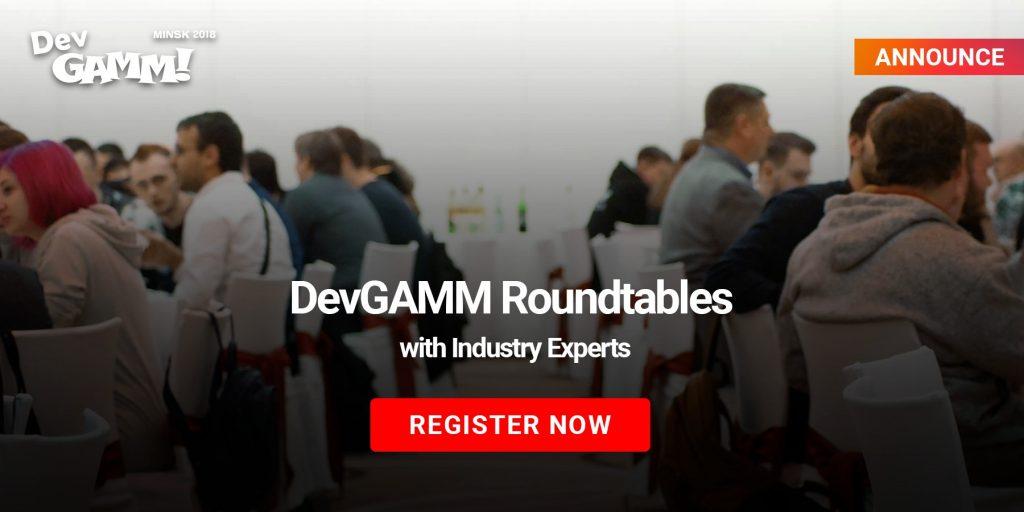 Registration for DevGAMM Roundtables is open