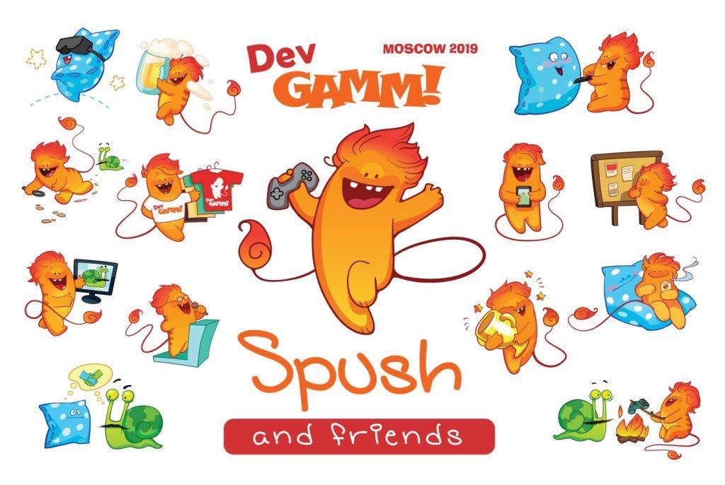 Spush is the new mascot-hero of DevGAMM