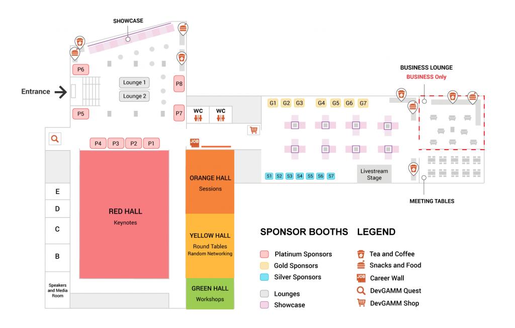 DevGAMM Conference Map