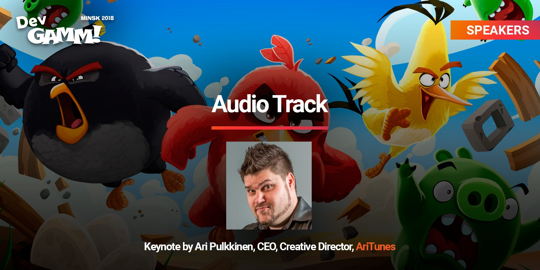 Angry Birds composer's keynote at Audio Track