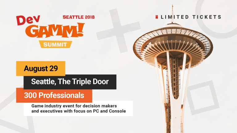 DevGAMM Summit is back to Seattle this August