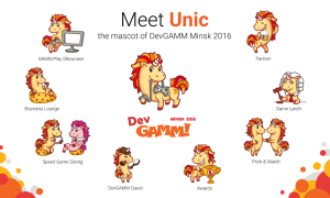 Meet Unic, DevGAMM's new mascot