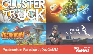 Postmortem Paradise at DevGAMM